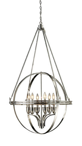 ELK Lighting Lighting 10193-6 Hemispheres Six Light Chandelier In Polished Nickel - PeazzLighting
