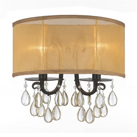 Crystorama 5622-EB Hampton 2 Light Bronze Sconce - PeazzLighting