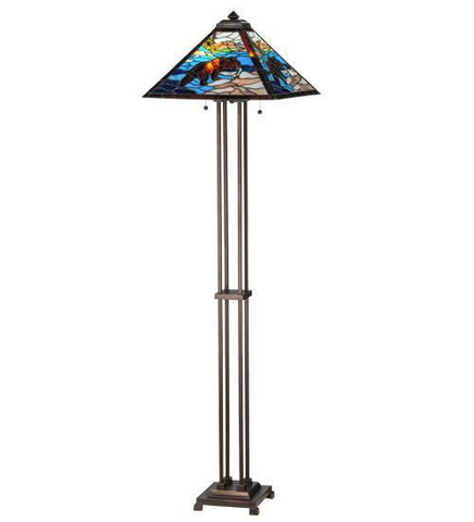 "Meyda Tiffany 145045 62.5""H Grizzly Bear Floor Lamp - PeazzLighting"