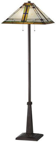 "Meyda Tiffany 145071 63""H Nevada Floor Lamp - PeazzLighting"