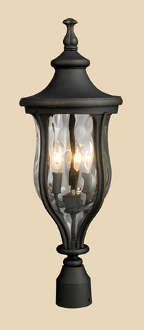 ELK Lighting 42255-3 Grand Aisle Three Light Post Mount In Weathered Charcoal - PeazzLighting