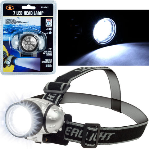 75-Fl17 Super Bright 7 Led Headlamp With Adjustable Strap - PeazzLighting