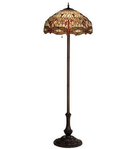 "Meyda Tiffany 17473 63""H Tiffany Hanginghead Dragonfly Floor Lamp - PeazzLighting"