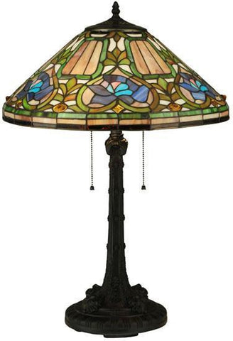 "Meyda Tiffany 124816 26.5""H Tiffany Floral Table Lamp - PeazzLighting"