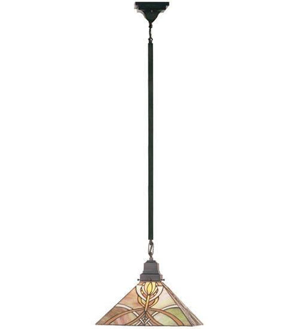 "Meyda Tiffany 49149 13""Sq Glasgow Bungalow Pendant - PeazzLighting"