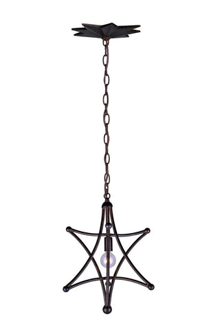 Crystorama English Bronze Chandelier 1 Lights - English Bronze - 9235-EB - PeazzLighting