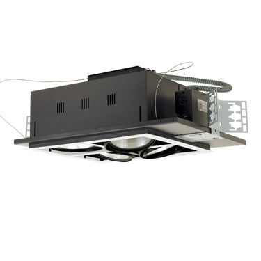Jesco Lighting MGP38-4SWB Four-Light Double Gimbal Square Recessed Line Voltage Fixture - PeazzLighting