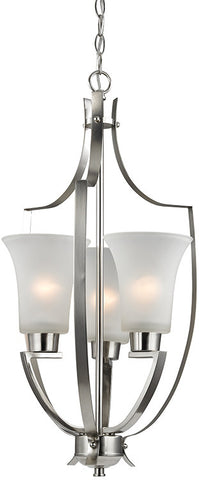 Cornerstone 7703FY/20 Foyer Collection 3 Light Pendant In Brushed Nickel - PeazzLighting