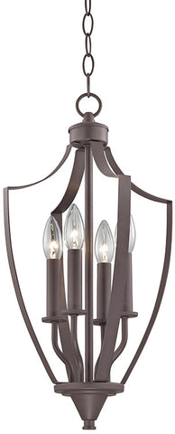 Cornerstone 7704FY/10 Foyer Collection 4 Light Pendant In Oil Rubbed Bronze - PeazzLighting