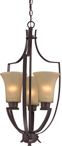 Cornerstone 7703FY/10 Foyer Collection 3 Light Pendant In Oil Rubbed Bronze - PeazzLighting