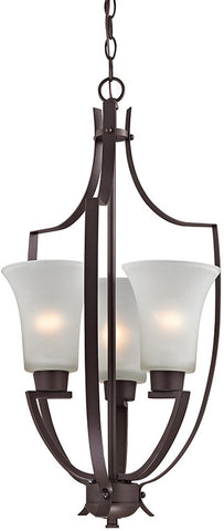 Cornerstone 7723FY/10 Foyer Collection 3 Light Pendant In Oil Rubbed Bronze - PeazzLighting