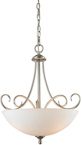 Cornerstone 1103PL/20 Chatham 3 Light Large Pendant In Brushed Nickel - PeazzLighting