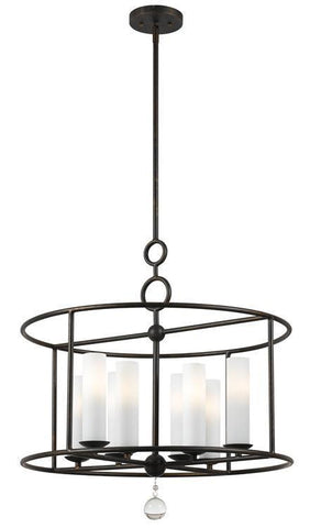 Crystorama 9266-EB Cameron 8 Light Wrought Iron Chandelier I - PeazzLighting