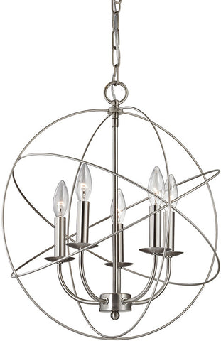 Cornerstone 1515CH/20 Williamsport 5 Light Chandelier In Brushed Nickel - PeazzLighting