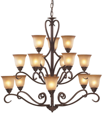 Cornerstone 1815CH/12 Lawrenceville 12 Light Chandelier In Mocha - PeazzLighting