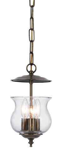 Crystorama 5717-AB 3-Lights Traditional Bell Jar Finished In Antique Brass. - Antique Brass - PeazzLighting