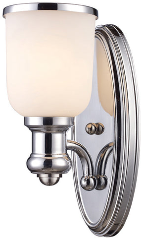 Cornerstone 2701WS/40 Brooksdale 1 Light Sconce In Polished Chrome - PeazzLighting