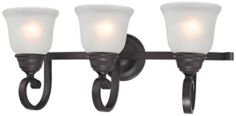 Cornerstone 2303BB/10 Hamilton 3 Light Bath Bar In Oil Rubbed Bronze - PeazzLighting