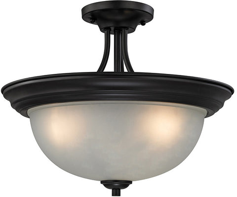 Cornerstone 2103SF/10 Bristol Lane 3 Light Semi Flush In Oil Rubbed Bronze - PeazzLighting