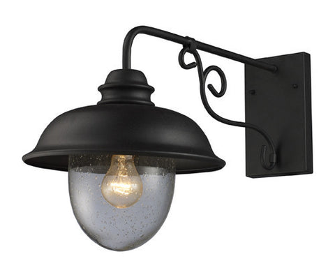 ELK Lighting 62001-1 Streeside Café One Light Outdoor Sconce In Matte Black - PeazzLighting