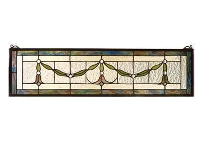 Meyda Tiffany 98102 Garland Swag Stained Glass Window  - PeazzLighting