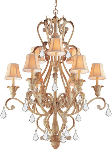 Crystorama 6609-CM-CL-MWP Winslow 12 Light Champagne Chandelier I - PeazzLighting