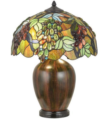 "Meyda Tiffany 153524 22""H Vinifera Table Lamp - PeazzLighting"