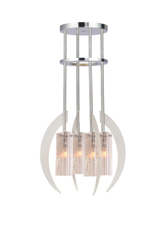 Woodbridge Lighting 12414STN-C40432 4 Light Crescent Multi-Light Pendant - PeazzLighting