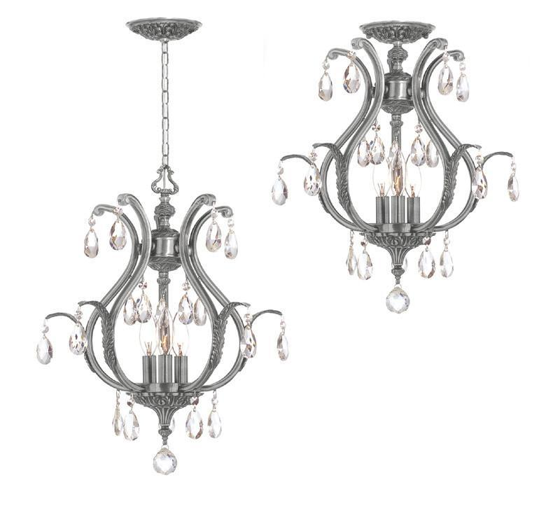 Crystorama Clear Hand Cut Crystal Chandelier 3 Lights - P...