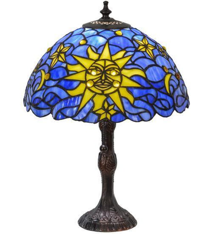 "Meyda Tiffany 153615 16.5""H Sun, Moon & Stars Table Lamp - PeazzLighting"