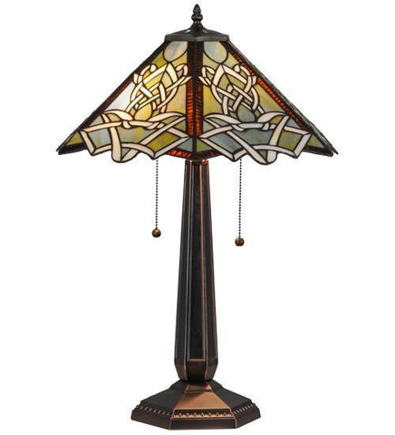 "Meyda Tiffany 154481 24.5""H Glasgow Bungalow Table Lamp - PeazzLighting"