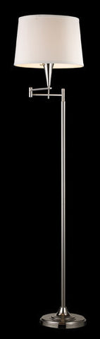 ELK Lighting 10109-1 Swingarm One Light Floor Lamp In Polished Chrome - PeazzLighting