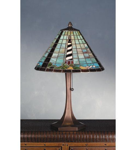 "Meyda Tiffany 69409 21""H Cape Hatteras Lighthouse Table Lamp - PeazzLighting"