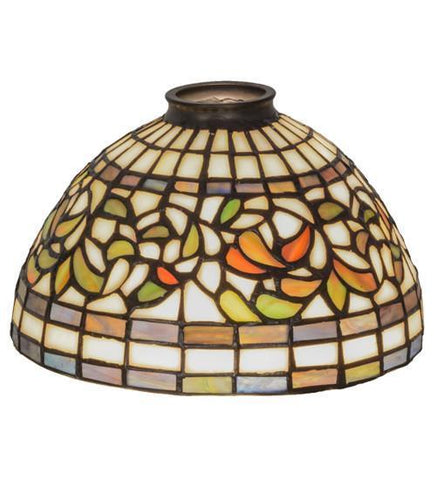 "Meyda Tiffany 10988 8""W Turning Leaf Shade - PeazzLighting"