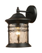 Landmark 08161-MBG Madison One Light Outdoor Sconce in Matte Black - PeazzLighting