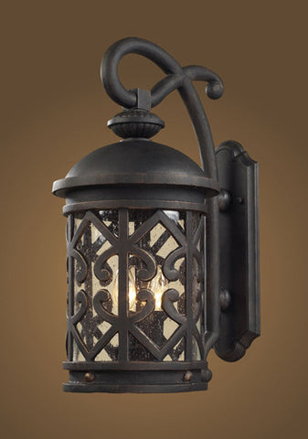 ELK Lighting 42061-2 Two Light Outdoor Sconce In Weathered Charcoal And Clear Seeded Glass - PeazzLighting