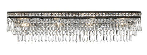 Crystorama 5267-EB-CL-MWP Mercer 8 Light Hand Cut Crystal Bronze Vanity Light - PeazzLighting