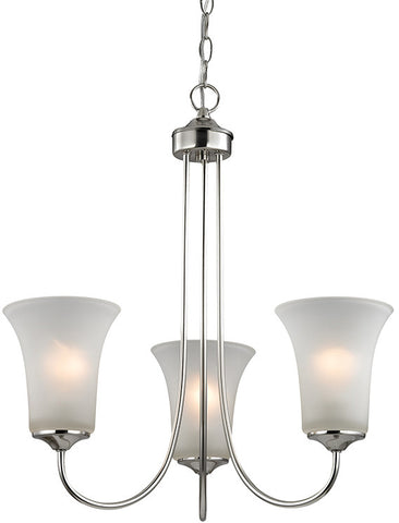 Cornerstone 1913CH/20 Charleston 3 Light Chandelier In Brushed Nickel - PeazzLighting