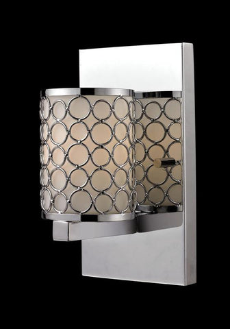 Z-Lite 199-1S Synergy Collection Chrome/Matte Opal Finish 1 Light Wall Sconce - ZLiteStore