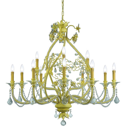 Crystorama Clear Hand Cut Crystal Chandelier 12 Lights - Champagne - 5139-CM-CL-MWP - PeazzLighting