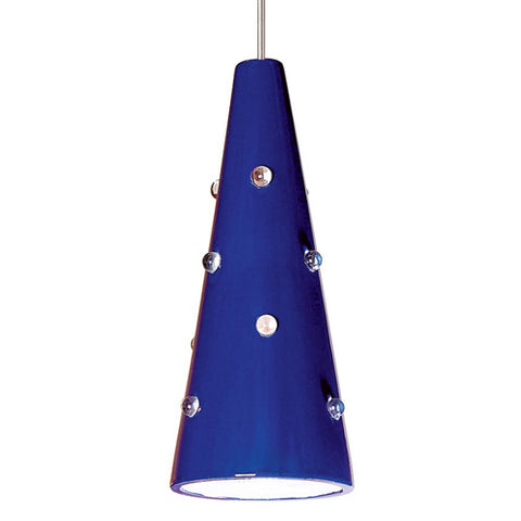 A19 LVMP18-CB Wizard Mini Pendant Cobalt Blue - PeazzLighting