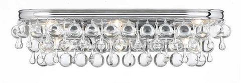 Crystorama 133-CH Calypso 6 Light Chrome Vanity Light - PeazzLighting