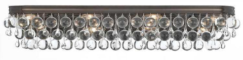 Crystorama 134-VZ Calypso 8 Light Bronze Vanity Light - PeazzLighting