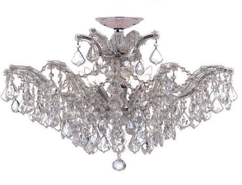 Crystorama Maria Theresa Chandelier Draped in Clear Hand Cut Crystal 6 Lights - Polished Chrome - 4439-CH-CL-MWP - PeazzLighting