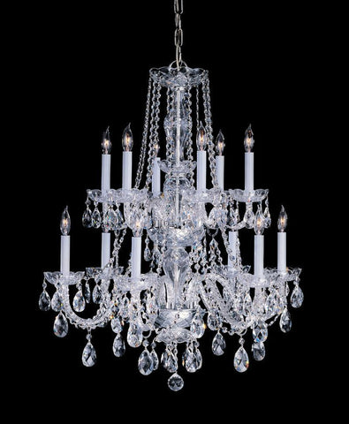 Crystorama Hand Cut Crystal Chandelier 6 Lights - Polished Brass - 1137-PB-CL-MWP - PeazzLighting