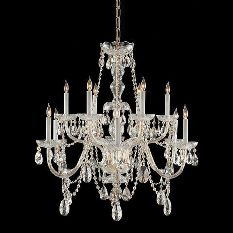 Crystorama Hand Cut Crystal Chandelier 6 Lights - Polished Brass - 1135-PB-CL-MWP - PeazzLighting