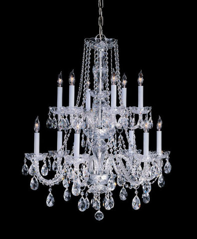 Crystorama Swarovski Elements Crystal Chandelier 6 Lights - Polished Brass - 1137-PB-CL-S - PeazzLighting