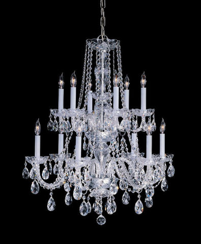 Crystorama Swarovski Spectra Crystal Chandelier 6 Lights - Polished Brass - 1137-PB-CL-SAQ - PeazzLighting