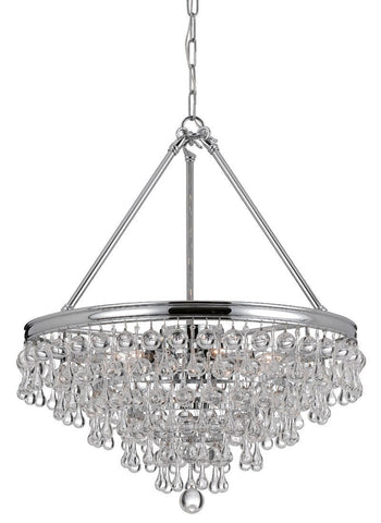 Crystorama Chandelier with Clear smooth glass balls accents with Polished Chrome finish on a solid brass frame. 8 Lights - Polished Chrome - 137-CH - PeazzLighting
