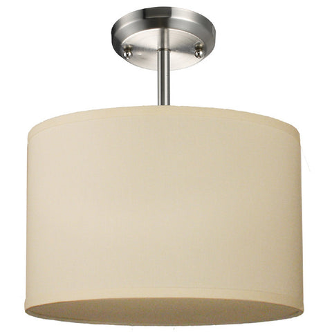 Z-Lite Albion Collection Off White/Brushed Nickel Finish One Light Pendant - ZLiteStore